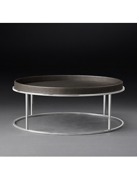 Hudson Shagreen Tray Round Coffee Table by Restoration Hardware