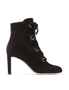Blayre 85 Suede Lace Up Boots by Jimmy Choo