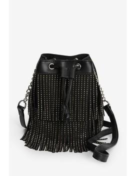 Black Diamanté Fringe Mini Bag by Next