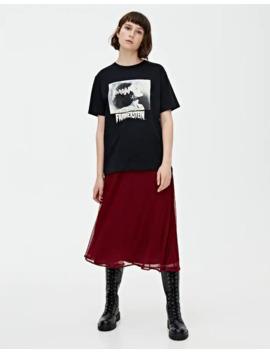 Frankenstein T Shirt In Black by Pull & Bear