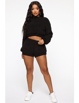 Favorite Teddy Bear Short Set   Black by Fashion Nova
