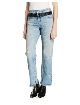 Dexter Belted Boyfriend Jeans by Rt A