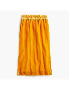 Petite Velvet Pull On Skirt by J.Crew