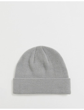Asos Design Fisherman Beanie In Ice Gray by Asos Design