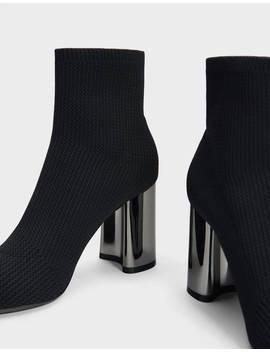Bottines Chaussettes à Talon Chaussures   Bershka France by Bershka