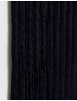 Selected Homme Rib Sock In Black by Selected Homme