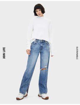 Jeans Loose Fit Con Cadena by Bershka