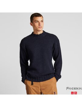 Men Jw Anderson Knit Low Gauge Sweatshirt by Uniqlo