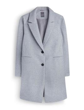 Grey Crombie Coat by Primark