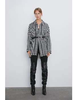 BlusÃo Tweed Xadrez by Zara