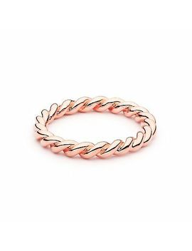 Twist Rope Stackable Ring 5 Sizes Myjs Stack Rings 18k Rose Gold Plated Twisted by Myjs | My Jewellery Story