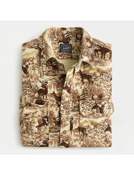 Heavyweight Chamois Workshirt In Scenic Print by J.Crew