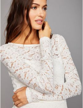 Floral Lace Peplum Maternity Top by A Pea In The Pod