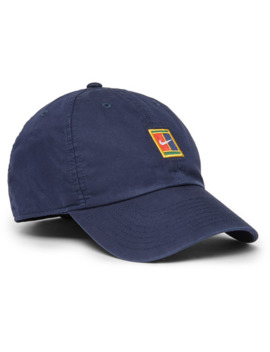 Court Heritage 86 Logo Embroidered Cotton Blend Twill Tennis Cap by Nike Tennis