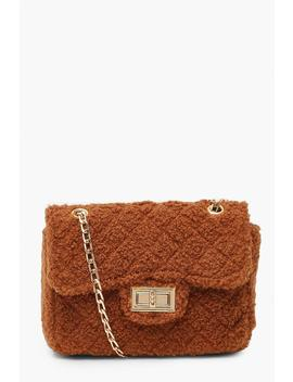 Teddy Faux Fur Mini Cross Body & Chain Bag by Boohoo