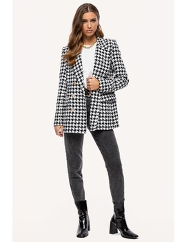 Keep The Shine by Loavies Houndstooth Blazer