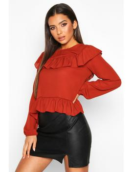 Frill Blouse by Boohoo