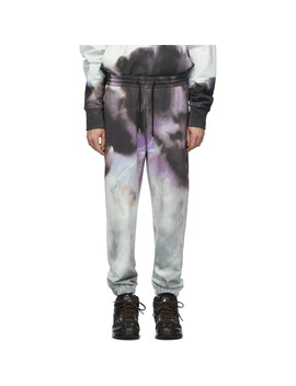 Multicolor Watercolor Print Lounge Pants by Feng Chen Wang