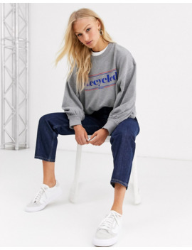 Soaked In Luxury Recycled Logo Sweatshirt by Asos