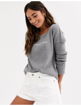 Abercrombie &Amp; Fitch Grey Waffle Logo Top by Abercrombie & Fitch