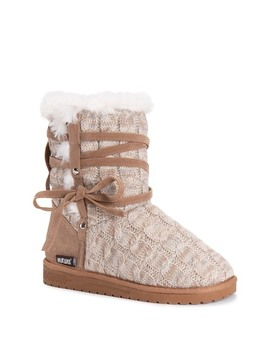 Camila Faux Fur Knit Boot by Muk Luks