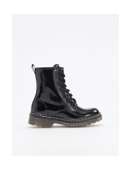 High Shine Hiking Boots by Reserved