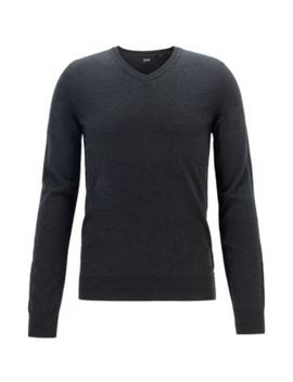 Lightweight Melange Sweater In Cotton With Cashmere Lightweight Melange Sweater In Cotton With Cashmere by Boss