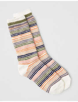 Aeo Striped Crew Sock by American Eagle Outfitters