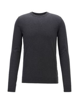 Slim Fit Sweater In Cotton And Cashmere Slim Fit Sweater In Cotton And Cashmere by Boss