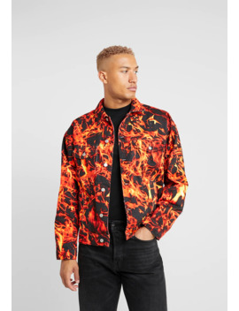 Flame Jacket   Denim Jacket by Jaded London