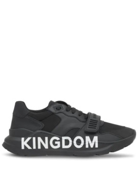 "Sneakers Mit ""Kingdom"" Print by Burberry"