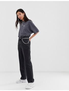 Collusion   X005   Jeans Met Rechte Pijpen In Zwart Met Wassing by Collusion
