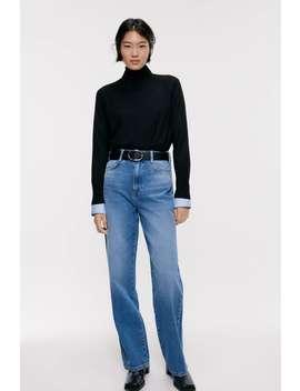 Spodnie Jeansowe Z Szerokimi Nogawkami Z Kolekcji Z1975 by Zara