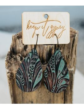 Embossed Leather Earring by Keep It Gypsy
