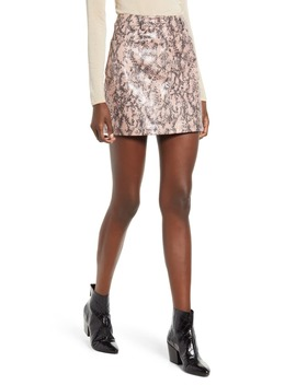 Snake Texture Miniskirt by Moon River