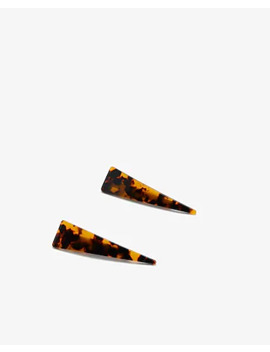 Noir Patterned Small Triangle Hair Clips by Express
