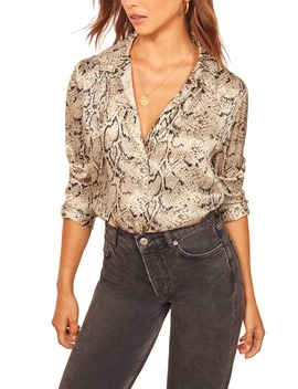 Sky Silk Top by Reformation