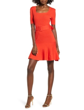 Belted Sweater Minidress by English Factory