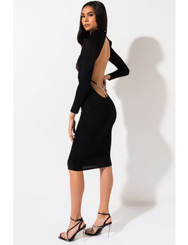 Look Back At It Jewel Thong Midi Dress by Akira