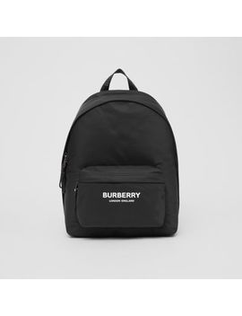 Logo Print Econyl® Backpack by Burberry