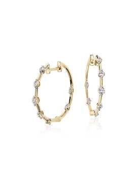 Blue Nile Studio Diamond Hoop Earrings 18k Yellow Gold (2/5 Ct. Tw.) by Blue Nile