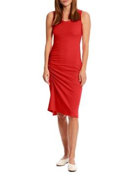 Natalia Ruched Stretch Cotton Tank Dress by Michael Stars