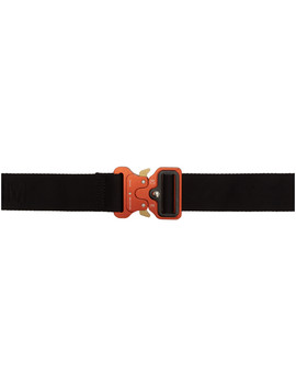 Black & Red Metal Buckle Belt by 1017 Alyx 9 Sm