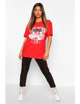 T Shirt Oversize à Slogan Brooklyn by Boohoo
