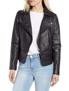 Leather Biker Jacket by Ted Baker London