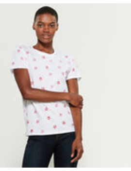 White & Red Short Sleeve Star Print Tee by Lucky Brand