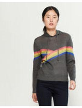 Rainbow Stripe Hoodie by Yal New York