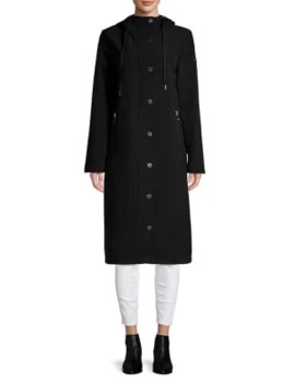 Long Sleeve Hooded Raincoat by Calvin Klein