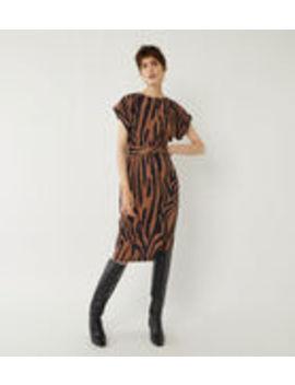 Tiger Soft Midi Shift Dress by Warehouse
