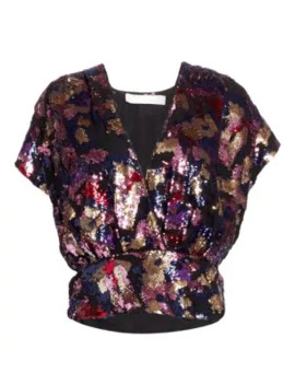 Eskie Sequin Wrap Top by Iro